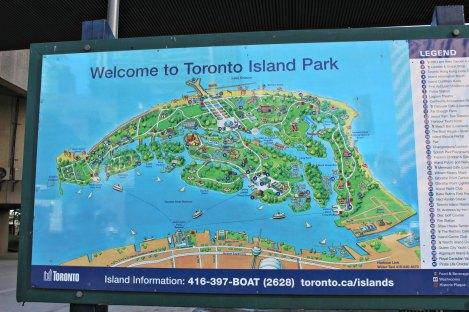 Plan de Toronto Islands