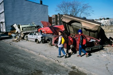 Meryl Meisler – Wrecked Cars, March 1988