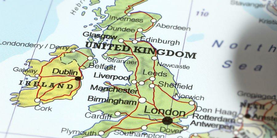 Situation géographique Sheffield
