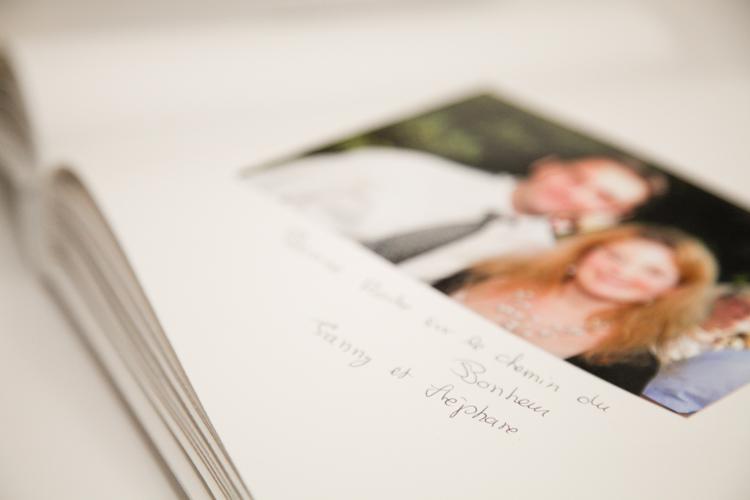Livre d'or mariage réalisé avec la phototour