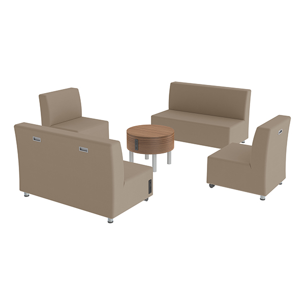 shapes series ii vinyl soft seating two sofas two chairs coffee table