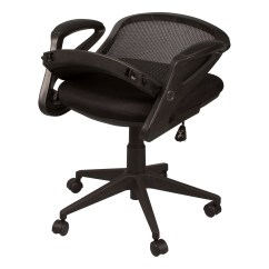Folding Desk Chair Captain Seat Covers Rv Mesh Back Office W Foldable At School Outfitters Shown Folded Down