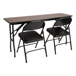 High Folding Chair Floral Upholstered Rectangle Pressure Laminate Top Training Table W Heavy Duty Steel Chairs At School Outfitters