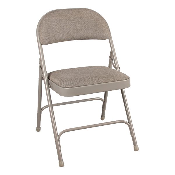 folding chair fabric hanging danube 6600 series heavy duty w upholstered seat back gray