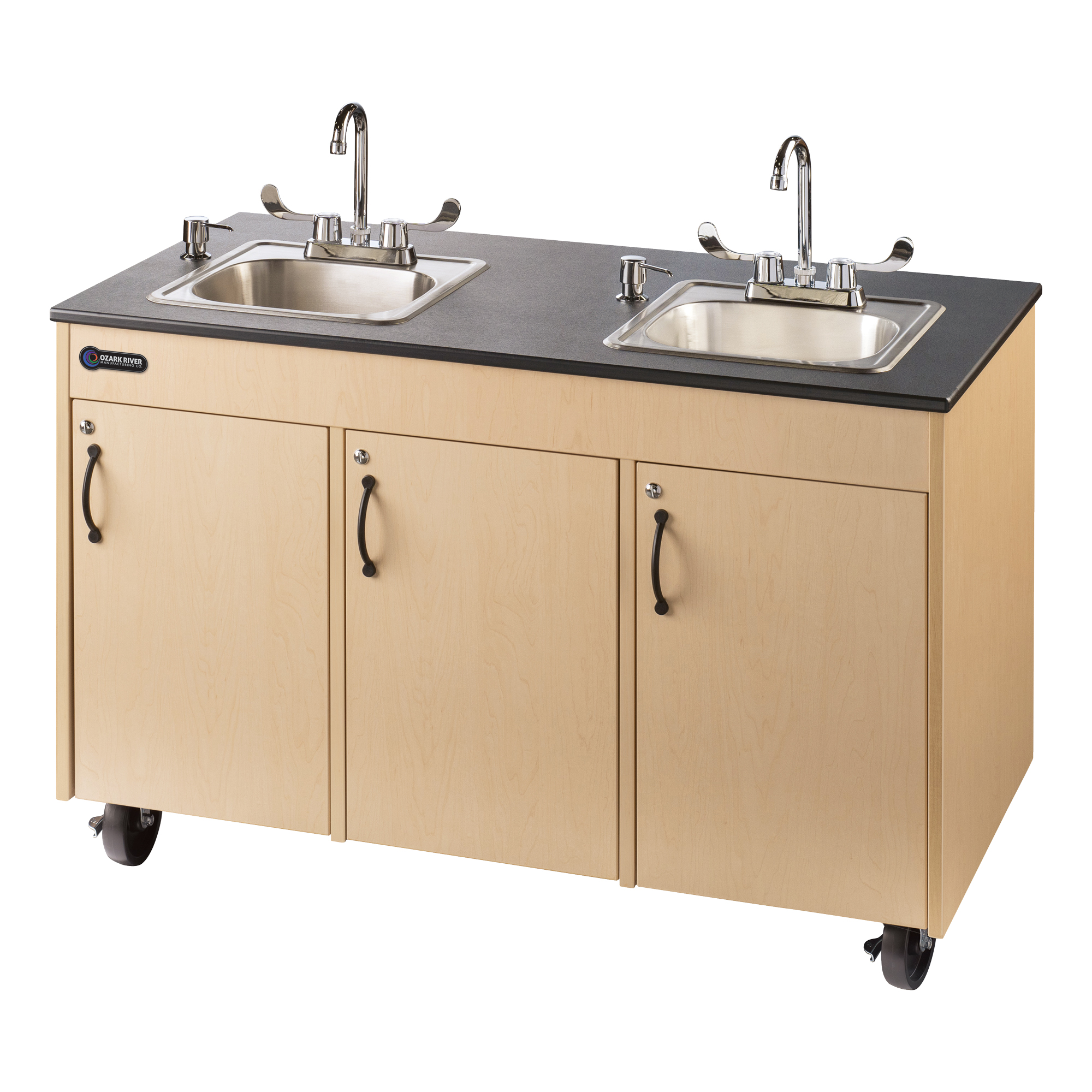 lil deluxe child height double basin portable sink