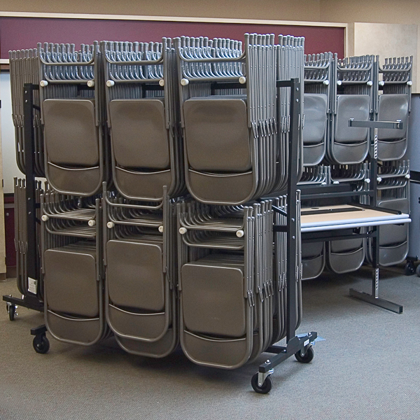 Virco DoubleTier Chair Storage Rack at School Outfitters