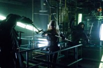 Sara/ Black Canary fights members of the League of Assassins