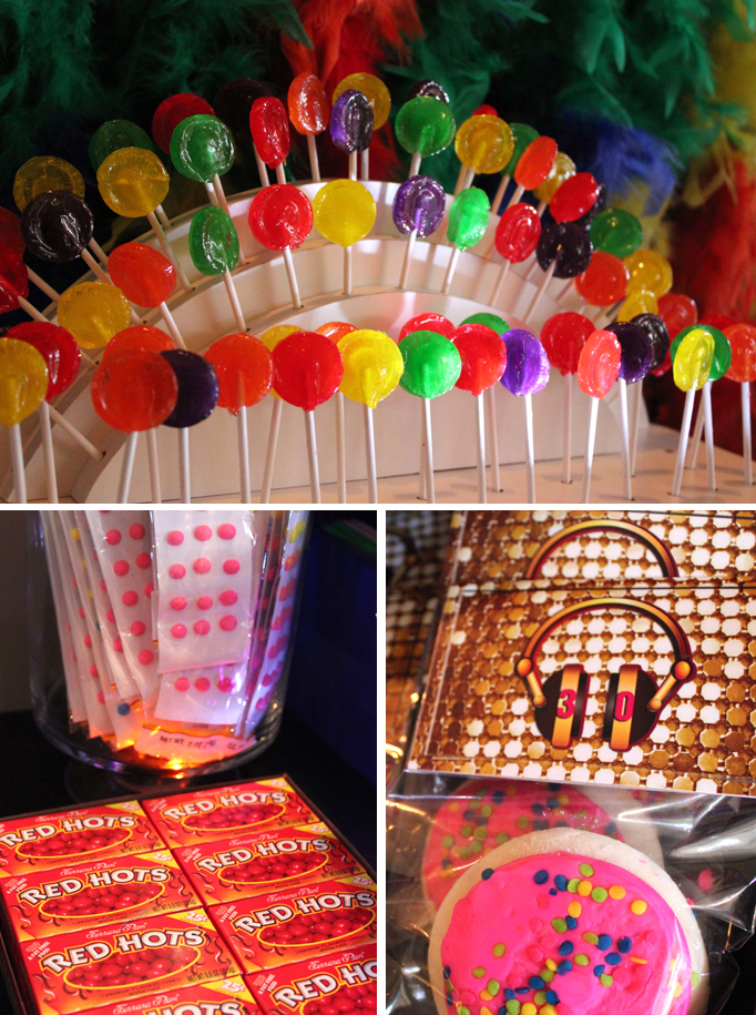 80s Themed Candy Bar Real Party Soiree Event Design