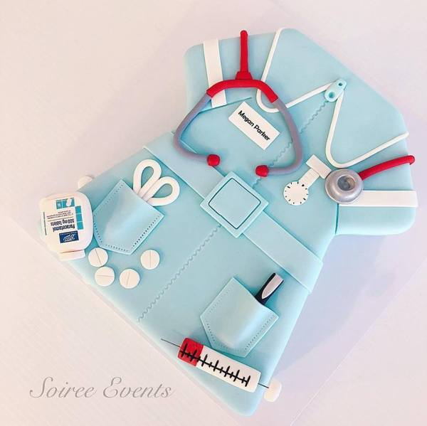 nurse uniform cake