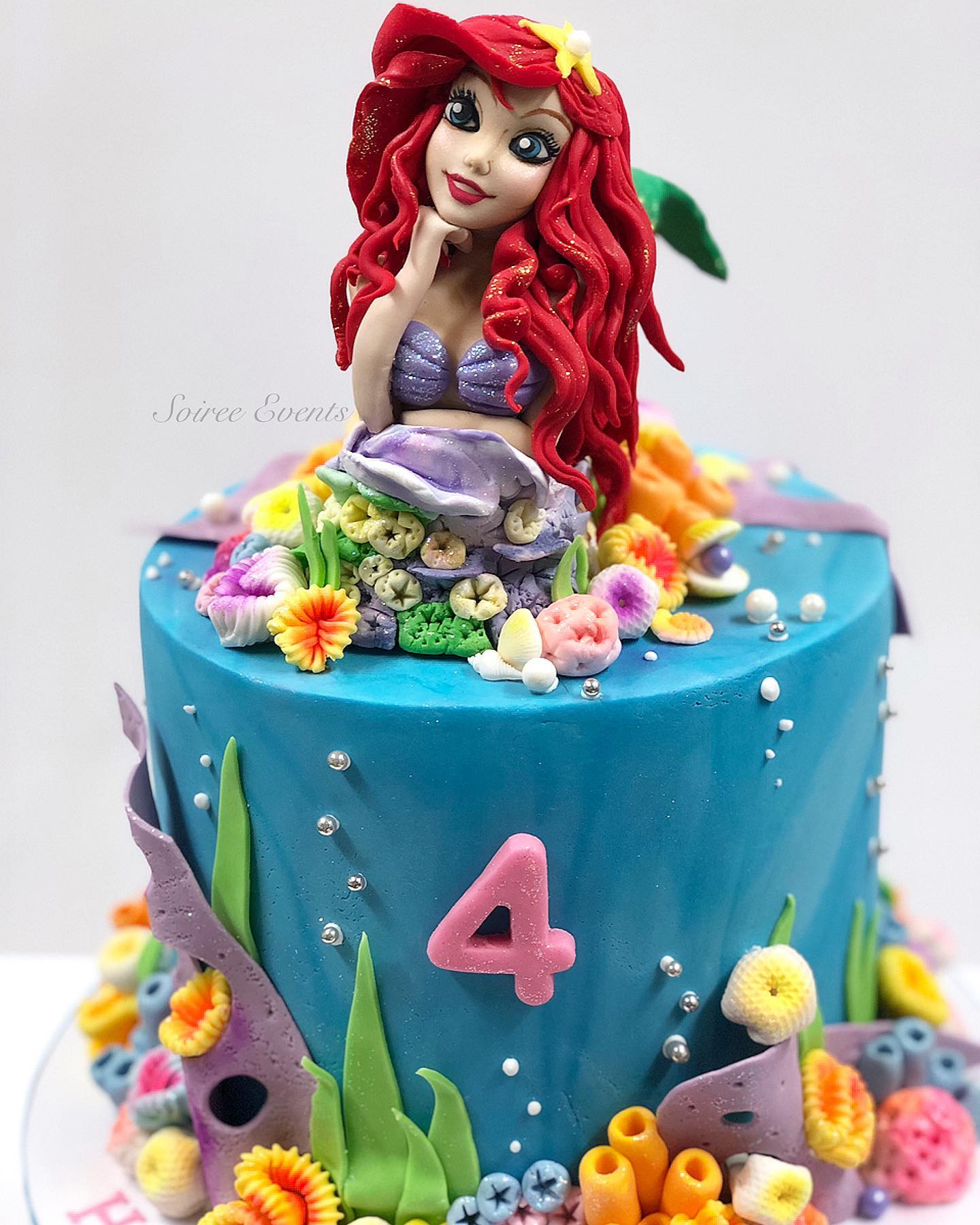 Stupendous Ariel The Little Mermaid Cake Soiree Personalised Birthday Cards Paralily Jamesorg