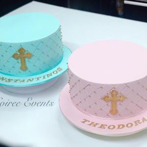 quilted christening cakes