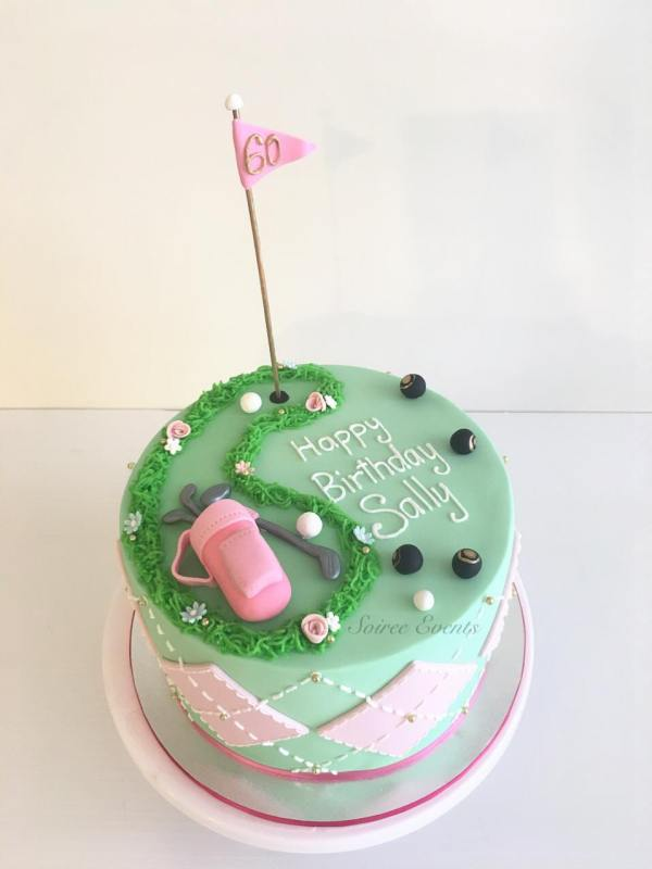 ladies golf cake