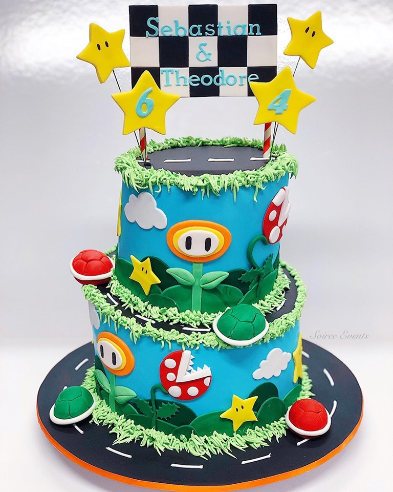 Magnificent Mario Kart Cake Soiree Personalised Birthday Cards Sponlily Jamesorg
