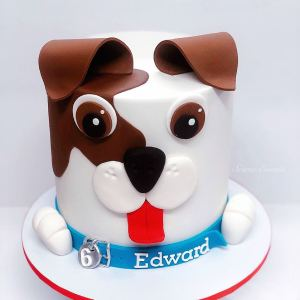 puppy dog face cake