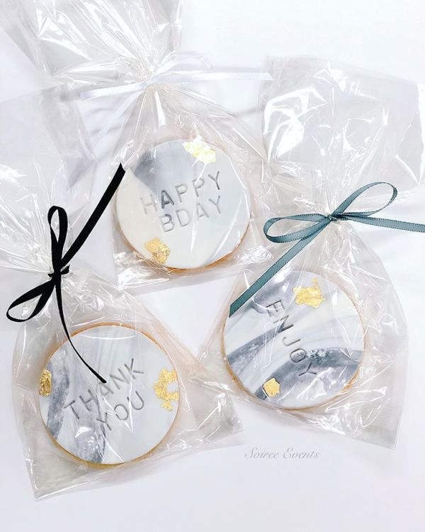 embossed marble cookies bagged