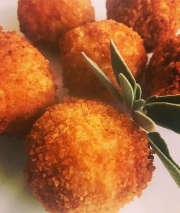 Prosciutto, Sage, Mozzarella Arancini