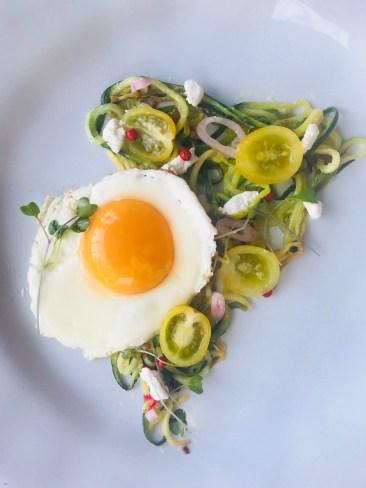 Zoodle Galette with Goat Cheese