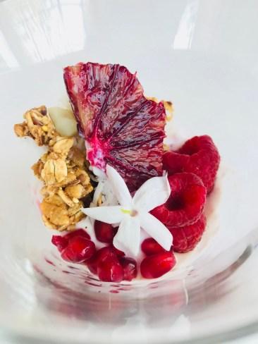 Greek Yogurt Bowl, Red Fruits and Macadamia Coconut Granola