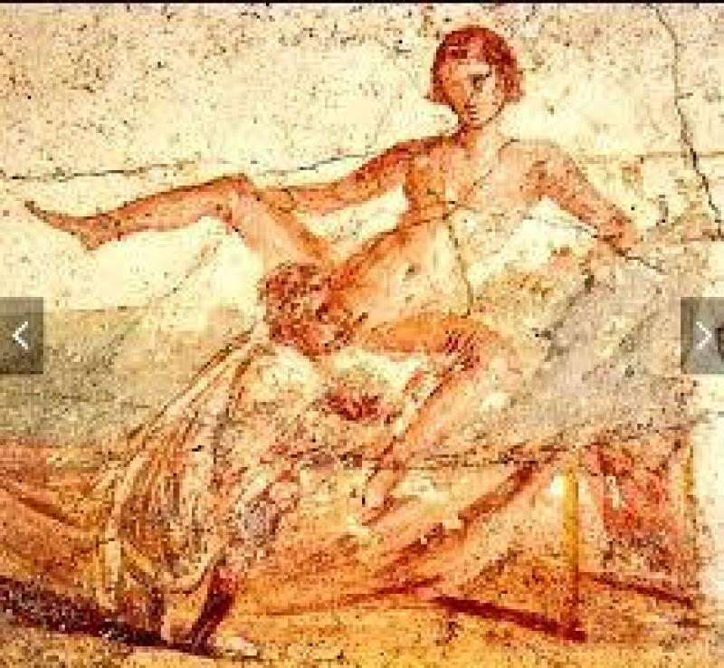 Fresque des Bains de Pompéi