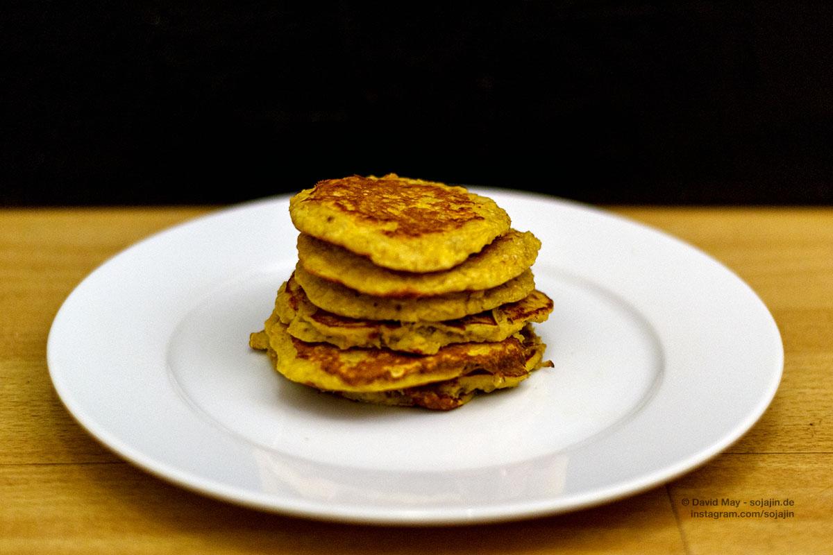 Schnelle Hafer-Banane-Pancakes