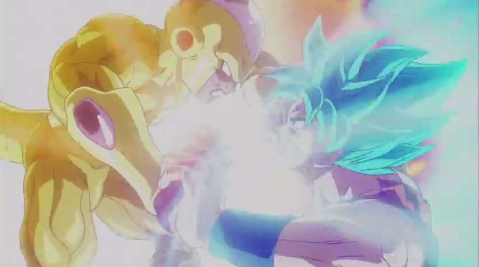 [ANIME] Blue Goku takes on Golden Frieza in a new Dragon Ball Z: Resurrection of F PV