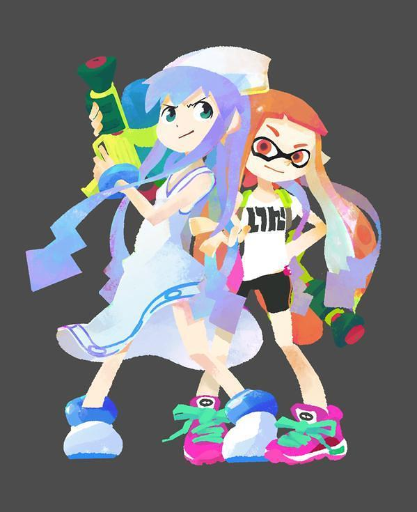 [GAMES] Splatoon officially gets a Squid Girl costume and new crossover art