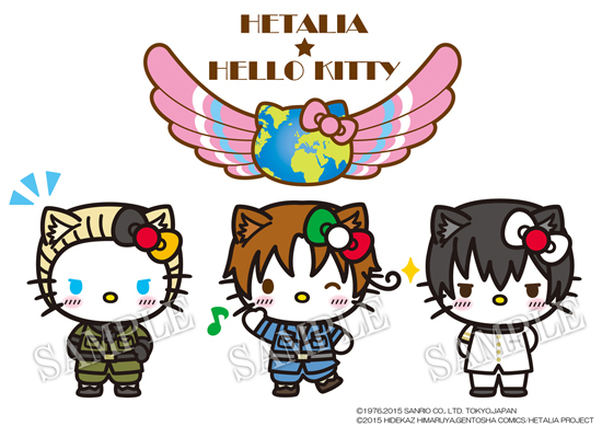 [ANIME] Hello Kitty gets transformed into Hetalia's bishounen countries for new team-up