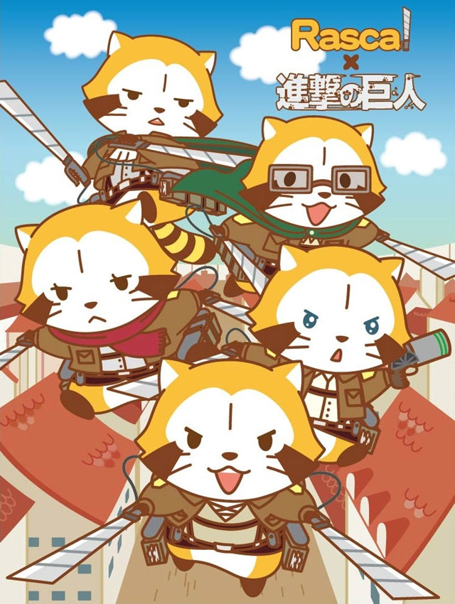 [LOOT] Rascal the Raccoon cosplays Attack on Titan characters in new collaboration