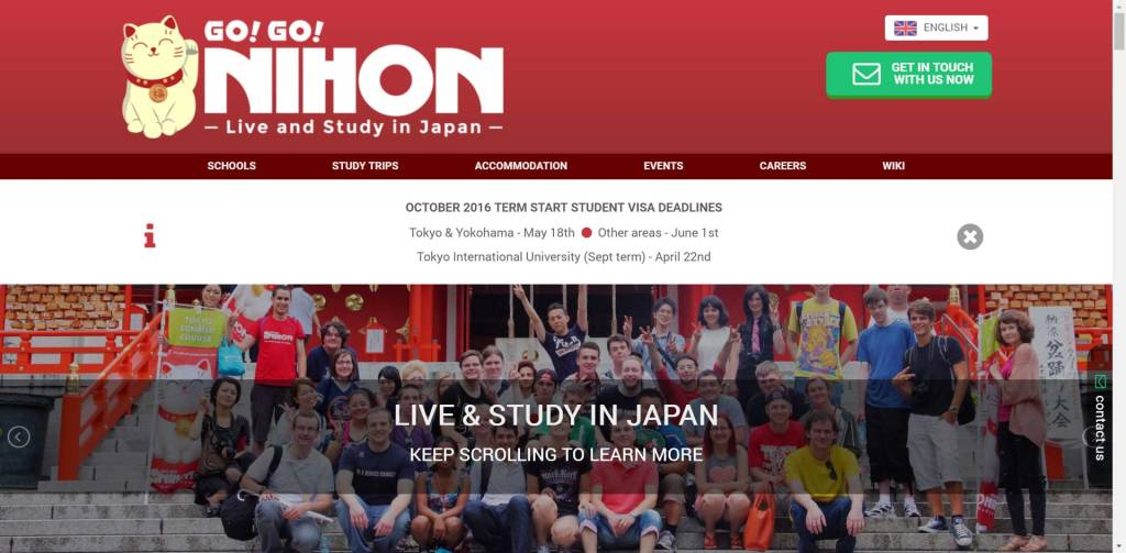 Live and Study in Japan with Go! Go! Nihon