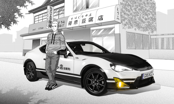 Toyota makes new Initial D concept car complete with manga artworks