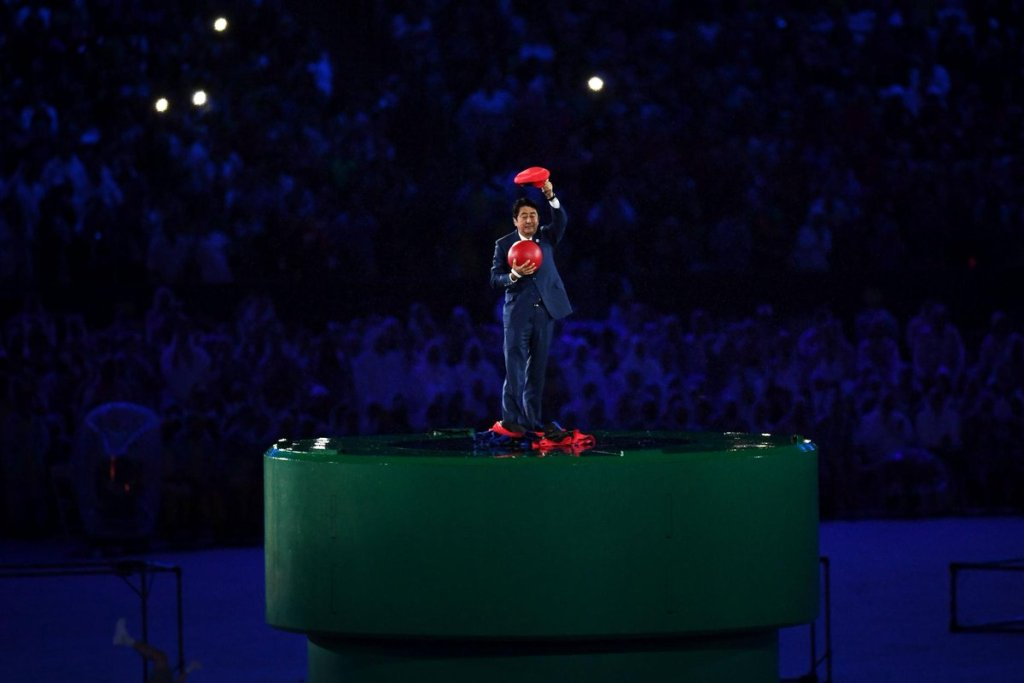 So, Shinzo Abe just appeared in the Olympics Closing Ceremony cosplaying as Mario