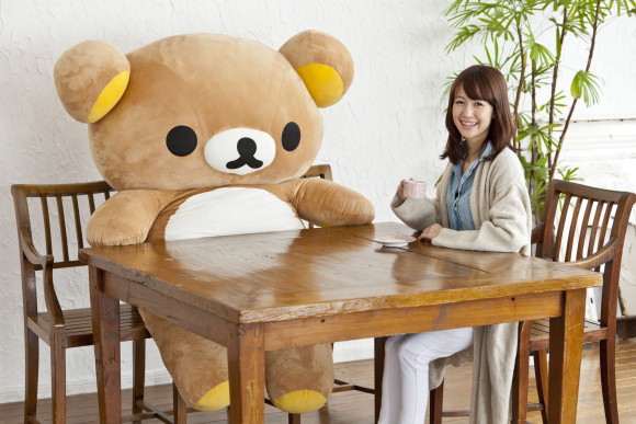 Relax and unwind by hugging this life-size Rilakkuma teddy bear