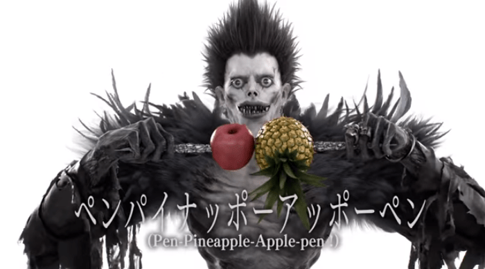 Ryuk performs PPAP for Death Note Light Up the NEW World