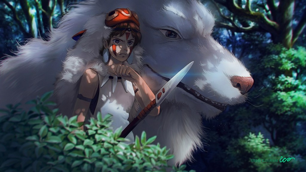 """Artist gives an amazing """"Paint Over"""" to some classic Studio Ghibli scenes"""
