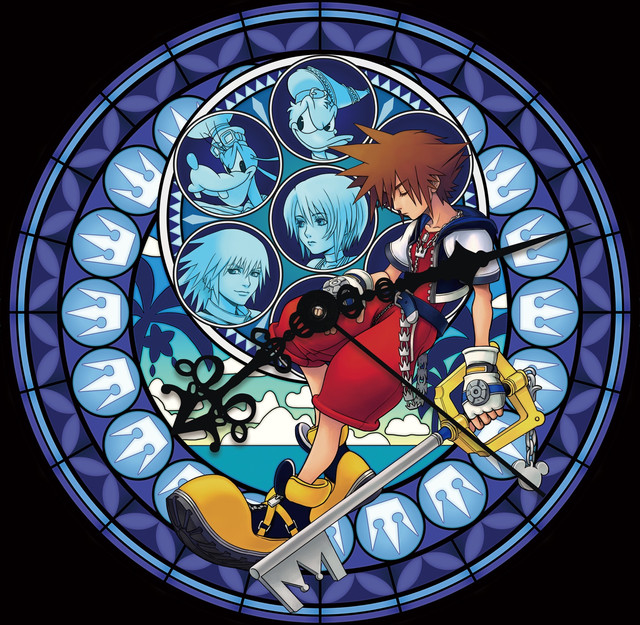 Kingdom Hearts Stained Glass clocks displayed in Shinjuku Station for franchise's 15th anniversary