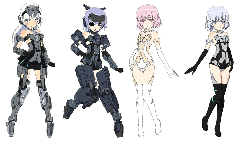 Meet the characters and cast of the Frame Arms Girl (F.A.G.) anime!