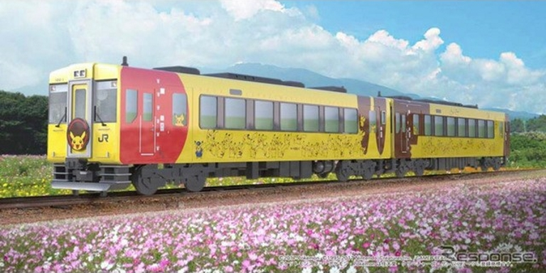 JR East unveils new Pokemon-themed train