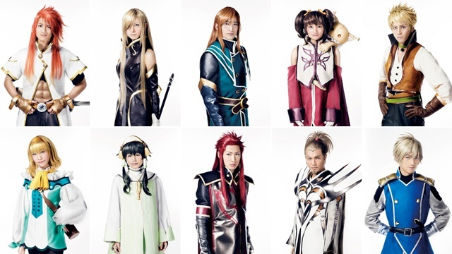 Live-action Tales of the Abyss stage play reveals cast in costume