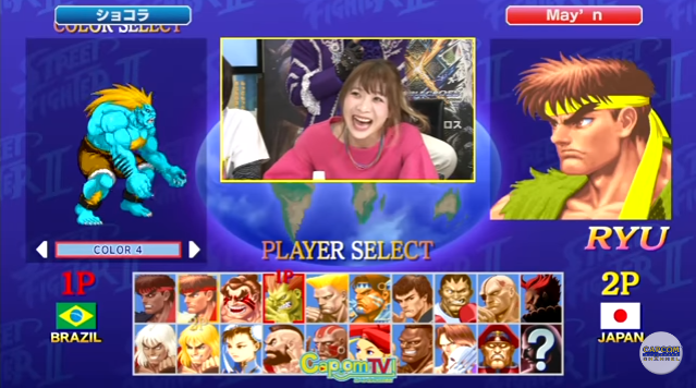 May'n rises up from defeat as she tries out Ultra Street Fighter II
