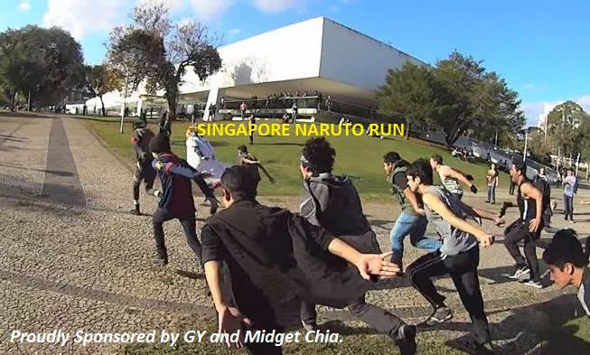 A Naruto Run was organised in Vivocity, and plenty of people actually attended