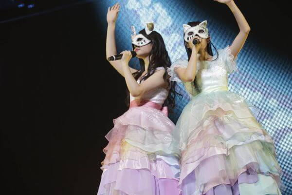 ClariS members unmask during their Yokohama concert