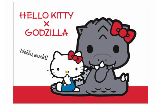 Godzilla goes KAWAII in a surprising collaboration with Sanrio