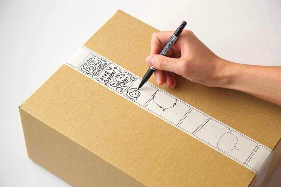 """""""Manga Tape"""" gives packages a nice story by adding a manga flair"""