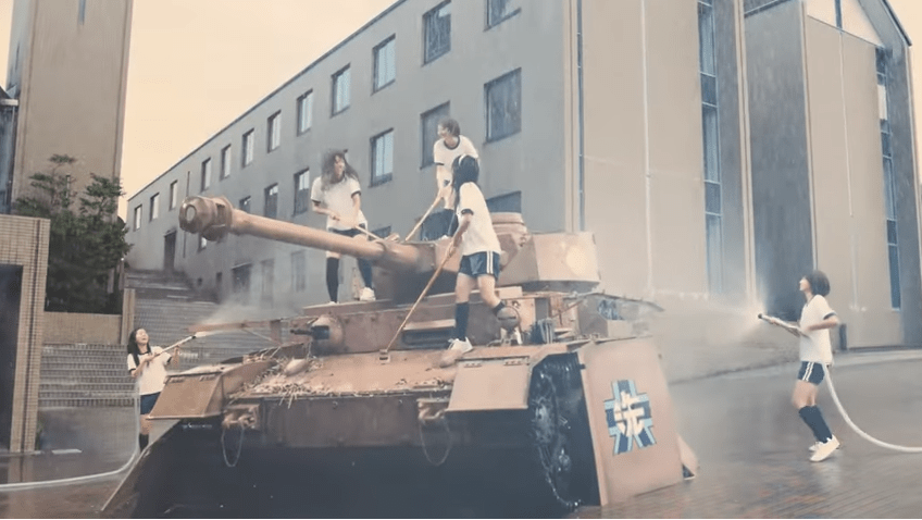 "Girls und Panzer celebrates 5th anniversary with live-action ""tank washing"" video"