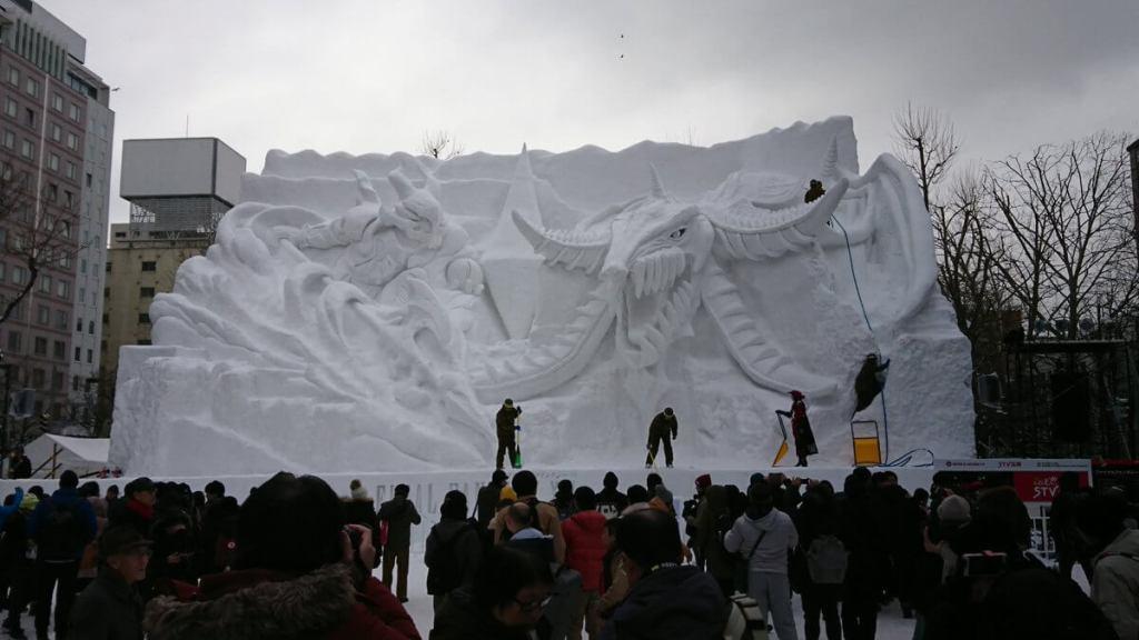Sapporo Snow Festival features amazing Final Fantasy snow sculpture