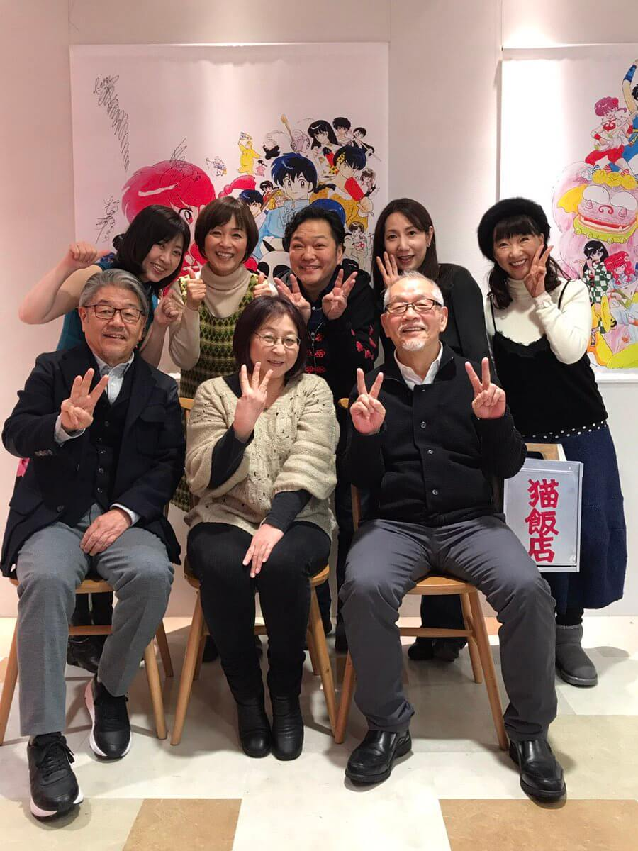 Ranma 1/2 mangaka and anime cast visit the Ranma 1/2 cafe in Tokyo