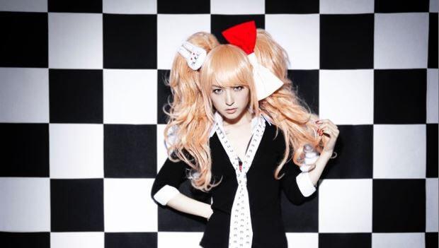 Actress and seiyuu Sayaka Kanda cosplays as Danganronpa's Junko Enoshima