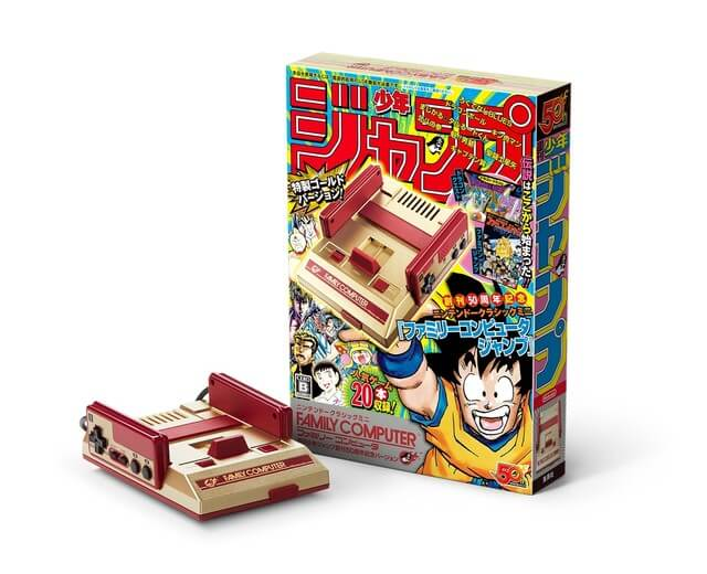 Nintendo Releases JUMP 50th Anniversary Mini Famicom with 20 Classic Games!