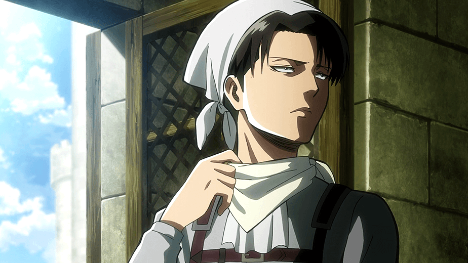 Attack on Titan's resident neat-freak, Levi, stars in a detergent commercial