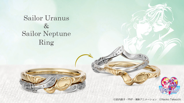 Celebrate love as Sailor Uranus and Sailor Neptune get their own matching jewelry